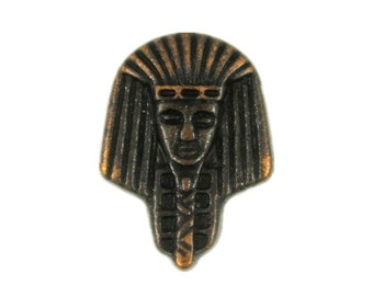 Metal Buttons - The Pharaohs Retro Copper Metal Shank Buttons - 15mm - 5/8 inch - 6 pcs