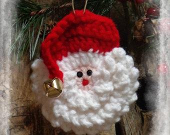 Primitive Christmas Ornament, Primitive Santa Ornament, Christmas Gift Tag, OFG FAAP
