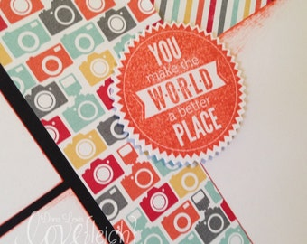 World A Better Place Double Page Scrapbook Layout