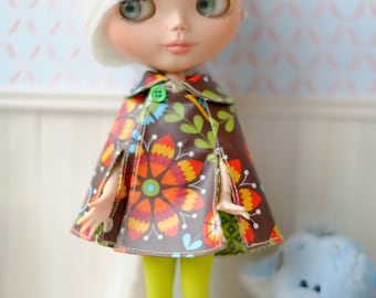 Blythe retro coat cape, also fits pure neemo bodies size S and M