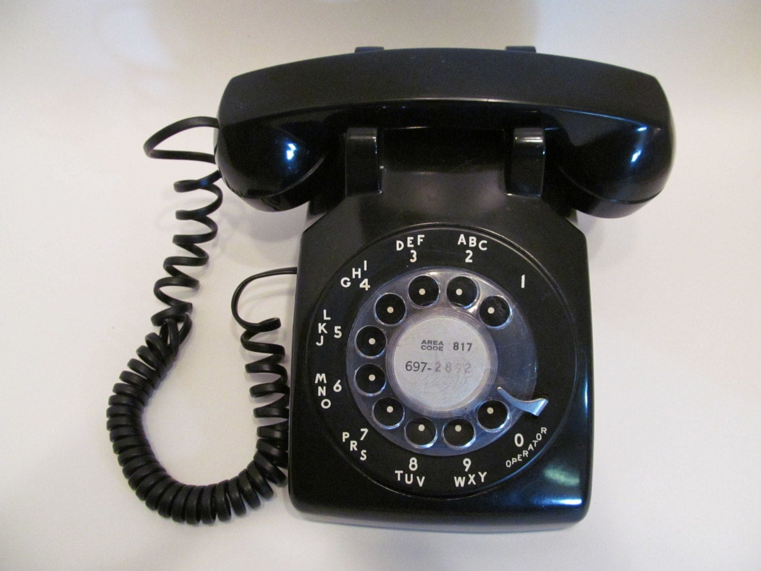 Vintage ROTARY DIAL TELEPHONE by HickoryTreeAntiques on Etsy