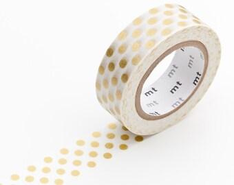 MT Washi Tape - Single Roll Dots Gold Best Seller!