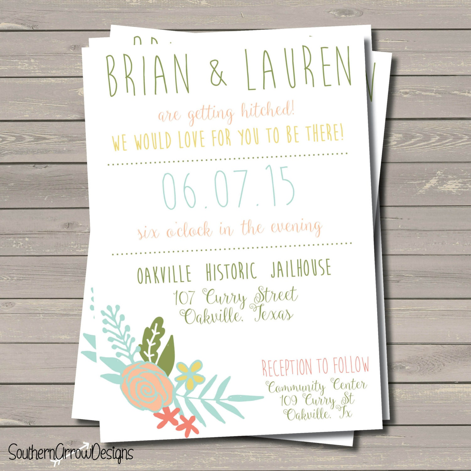 Shabby Wedding Invitations is great invitation design