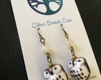 Adorable Owl Charm Earrings