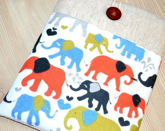 kindle cover, Nook Case, Kindle Case, Kindle Sleeve, Nook Sleeve, Nook Simple Touch, Case, Cover, Sleeve  Ereader Sleeve - Elephants