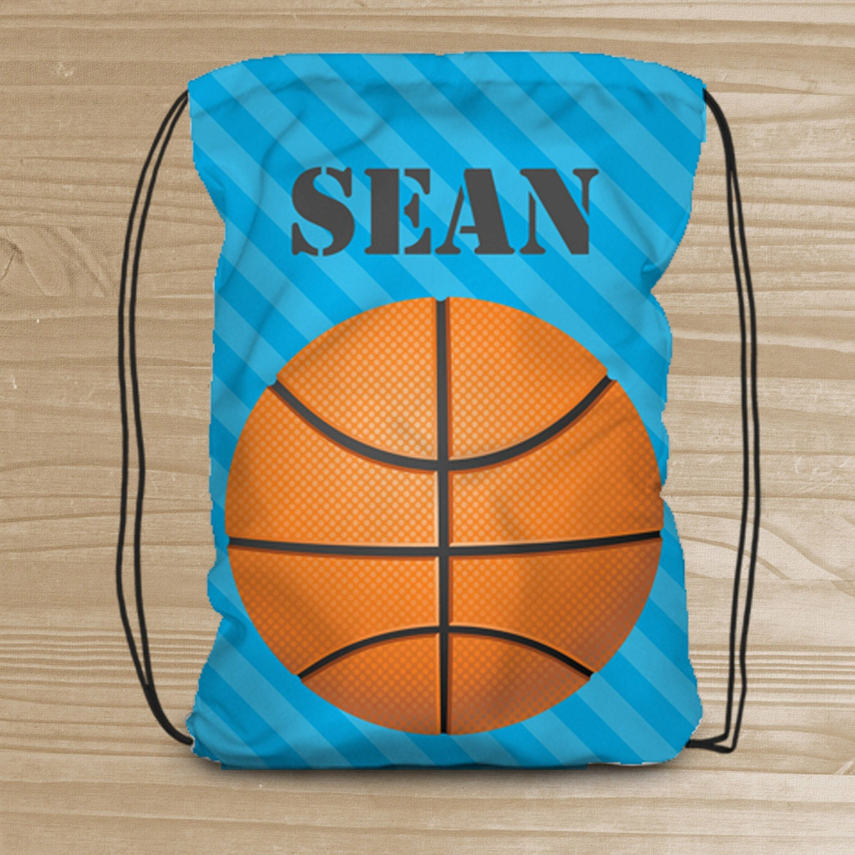 Personalized Drawstring Backpack for Kids Basketball