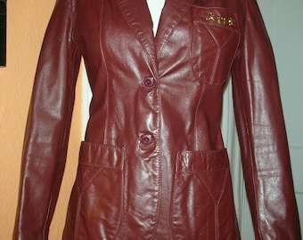 Etienne Aigner 100% Genuine Leather Rich Shade of Burgundy Cordovan Color