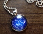 Say I LOVE YOU in Gallifreyan - Inspired by TV show Doctor Who - Pendant Key Ring