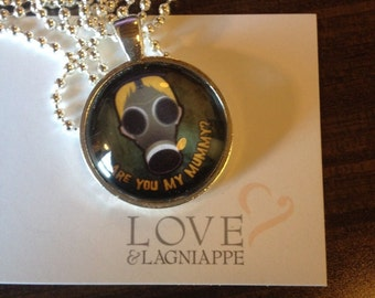 Are You My Mummy? in Gallifreyan Doctor Who inspired Pendant ~ from episode 'Empty Child'