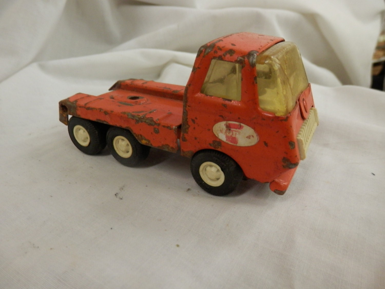 Vintage Tonka Tractors : Free ship vintage tonka toy orange semi tractor mini size