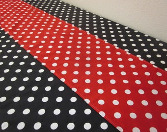 Polka Dot Tablecloth and Runner - Minnie Mouse Birthday Parties, Bridal Showers, Baby Showers
