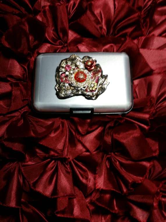 Credit Card Case RFID Wallet Vintage Jewels