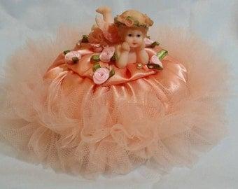 Powder puff. Victorian inspired. Romantic cherub.