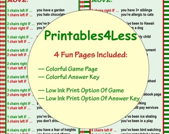 Game printable party game xmas game idea by printables 4 less