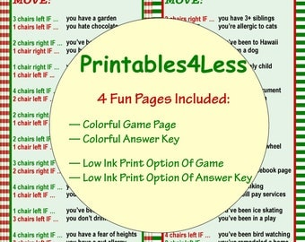 Christmas Ice Breaker Game, Christmas Party Game Idea, DIY Holiday Party Game, Printable Party Game, Xmas Game Idea - By Printables 4 Less