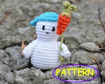 Snowman Pattern Crochet snowman PDF Christmas decoration pattern Winter Holiday Christmas ornament White blue orange