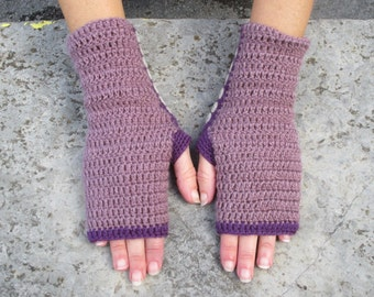 Mauve & Purple Mittens