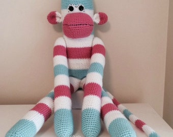 Crochet Sock Monkey 2 inches Amigurumi Miniature Monkey