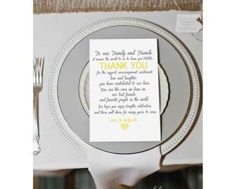 wedding guest thank you card, printable thank you card