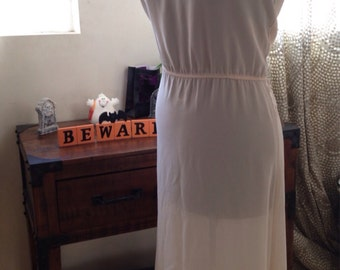 Vintage 1980's Romantic Ivory Day to Night Dress