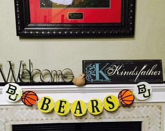 Baylor Bears Basketball Banner