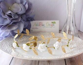 Floral Crown, Flower Crown, Greek Flower Crown, Boho Crown, Girls Flower Crown, Adult Flower Crown, Wedding Flower Crown, Bridesmaid crown