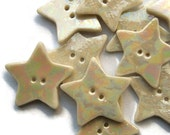 Star Buttons - Porcelain Mother of Pearl Buttons - Craft embellishments - Wedding Christening favours - Teachers Favours - Price per button