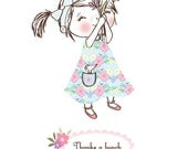 Thanks A Bunch... Rosie & Radish Daydreamer Greeting Card