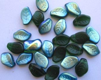 25 Vintage Twisted Leaf Glass Leads