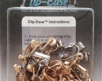 Clip On Earring Converter Kit. Turn Any Post Into A Clip On Earring! 6 Pack.