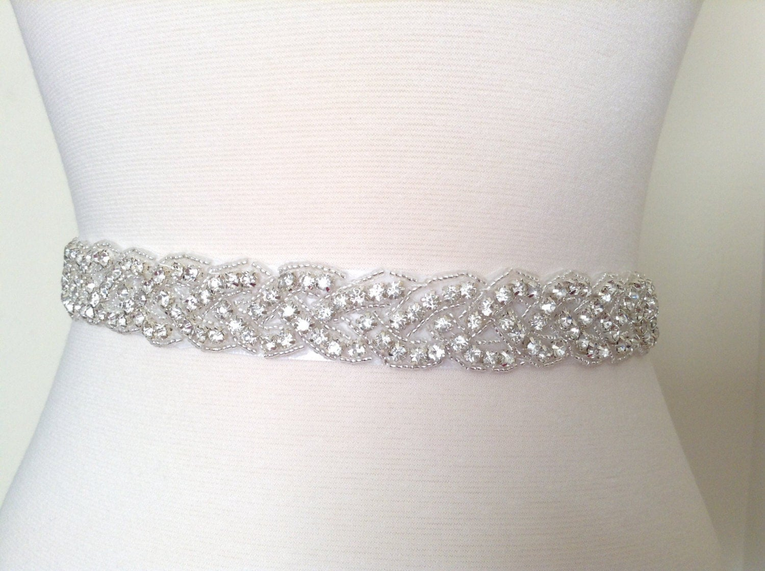 Bridal Sash Bridal Belt Wedding Dress Sash Rhinestone Sash