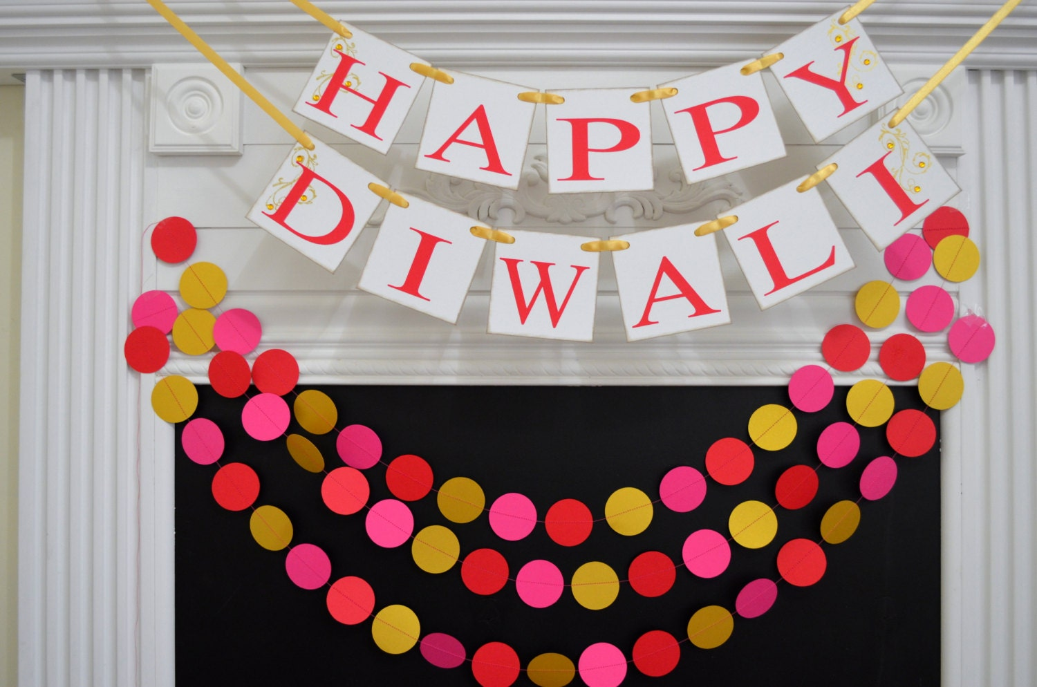 Diwali decorations happy diwali banner indian festival of for Art and craft for diwali decoration