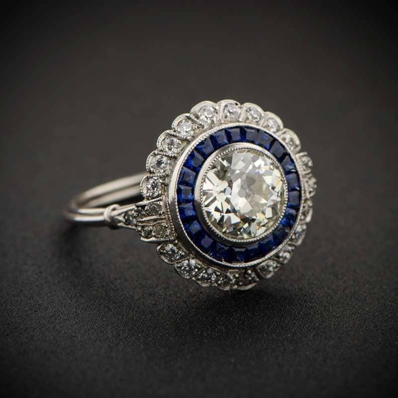 1 66ct Floral Estate Diamond Engagement Ring Estate Diamond