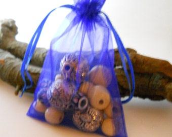 25 Organza Bags 3.5x4.5, Royal Blue Organza Bag,Gift Bag, Drawstring Bag, Sheer Organza,Favor Bag,Supplies,Sheer Bag,Jewelry Bag,Organza