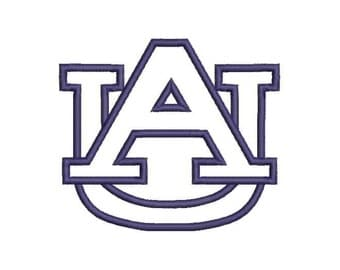 AU Auburn Applique Embroidery Design