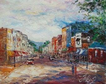 Main Street in Weston, MO-Pen King -A455