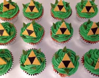 Zelda Triforce Cupcake Toppers