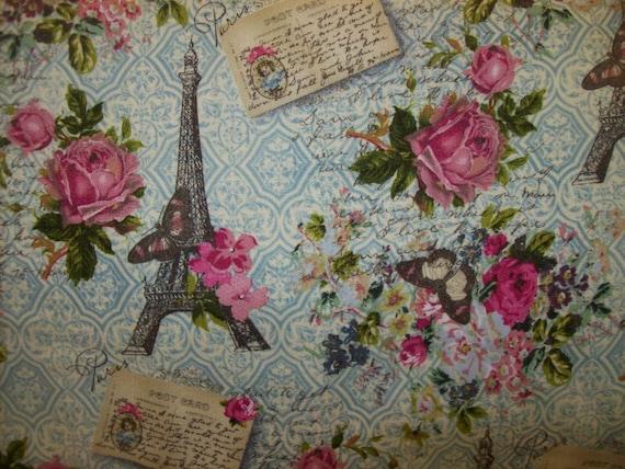 paris vintage style fat quarter fabric per fat quarters