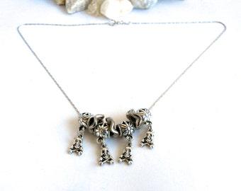 Skull & Crossbones - Necklace - Repurposed Jewelry