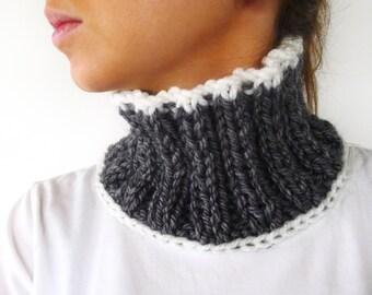 cuello en lana gris cuellos de punto hechos a mano bufandas de lana para