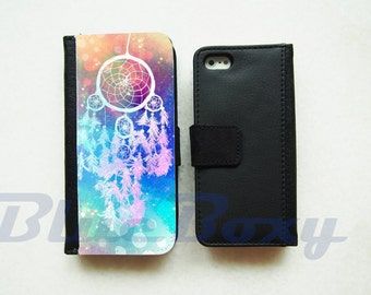 Dream Catcher Wallet Case - iPhone 7, iPhone 6 Case, iPhone 6s, iPhone 6 Plus, iPhone 5, iPhone 5s, iPhone 4/4s, Leather Wallet, Flip Case