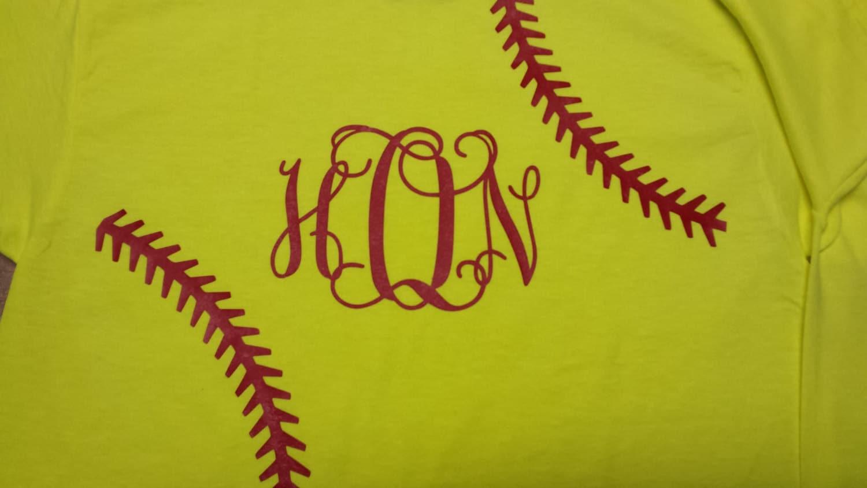 Yellow Softball Shirts Yellow Softball Stitches