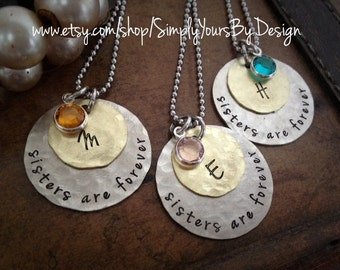 Custom Sisters Necklaces - Sisters Necklaces - Valentine Gift for Her - Gift for Her - Sister Valentine - Women's Christmas - Women's Gift
