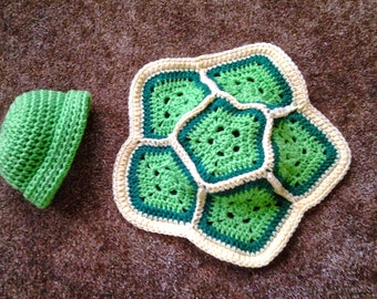 Turtle Hat and Shell / Photo Prop for Infants
