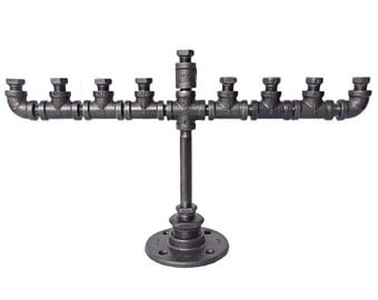 Industrial Pipe Menorah