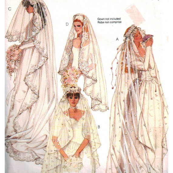 Wedding Veils And Headpieces Patterns: McCall's Sewing Pattern 2326 Misses Bridal Veils By