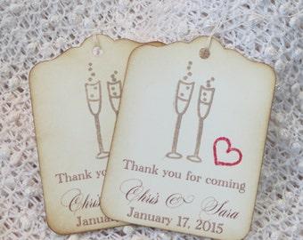 Unique Wedding Thank You Gifts : ... Wedding gift tag, Personalized wedding favor tags, wedding thank you