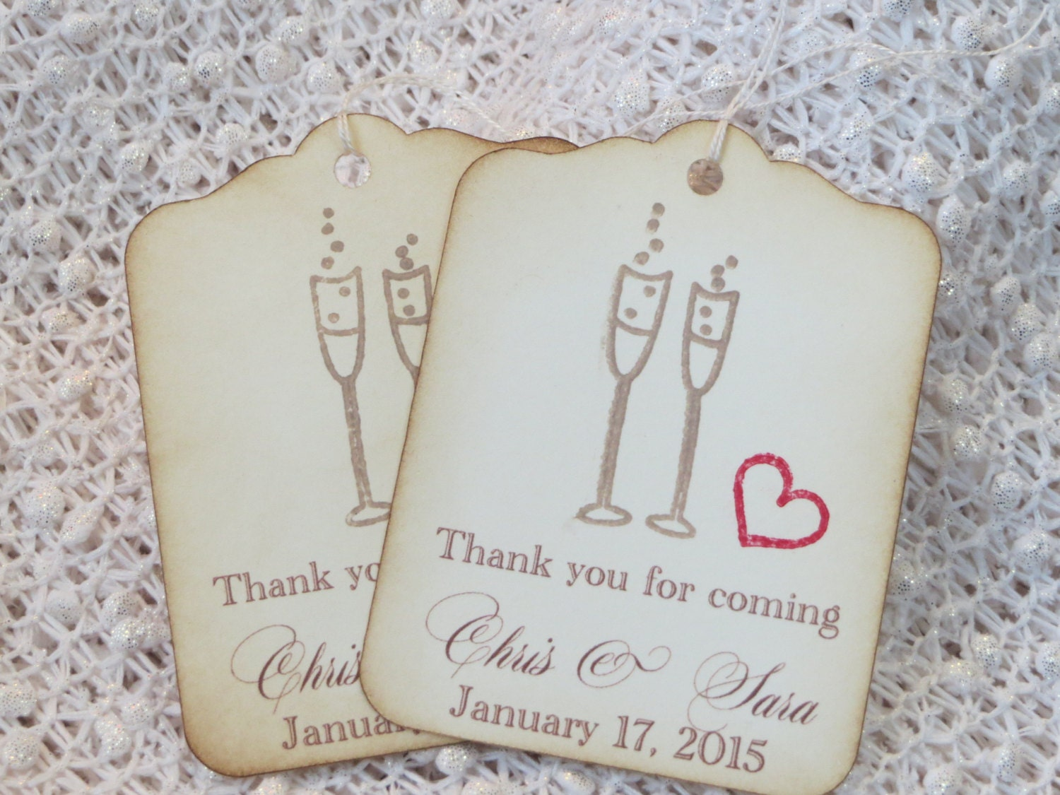 100pcs kraft paper gift tags wedding favor tags thank you tag gift ...