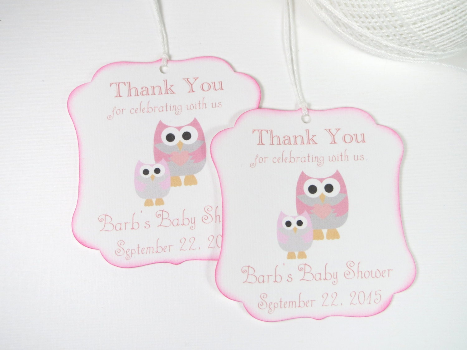 owl baby shower favor tags pink baby shower by wildsugarberries