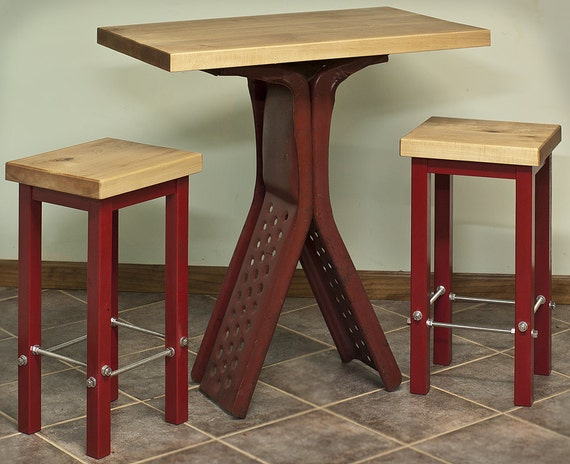 Items Similar To Bar Table Amp Stool Set Using Repurposed